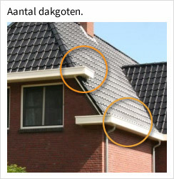 Aantal dakgoten